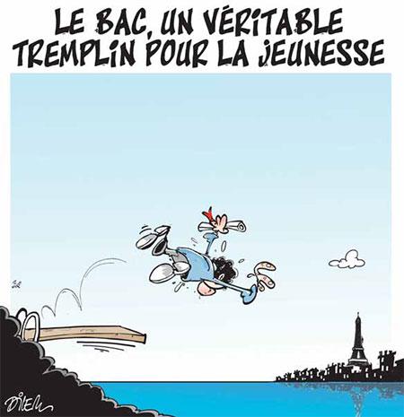 Le bac, un véritable tremplin pour la jeunesse - Dessins et Caricatures, Dilem - Liberté - Gagdz.com