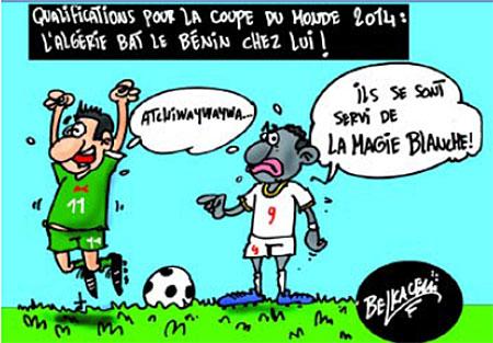L'Algérie bat le Bénin chez lui - Belkacem - Le Courrier d'Algérie, Dessins et Caricatures - Gagdz.com