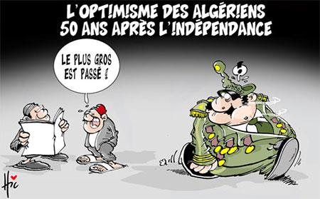 L'optimisme des algériens 50 ans après l'indépendance - Dessins et Caricatures, Le Hic - El Watan - Gagdz.com