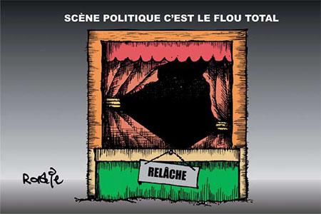 Scène politique c'est le flou total - Dessins et Caricatures, Ghir Hak - Les Débats - Gagdz.com