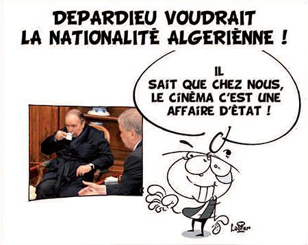 Depardieu voudrait la nationalité algérienne - Dessins et Caricatures, Vitamine - Le Soir d'Algérie - Gagdz.com