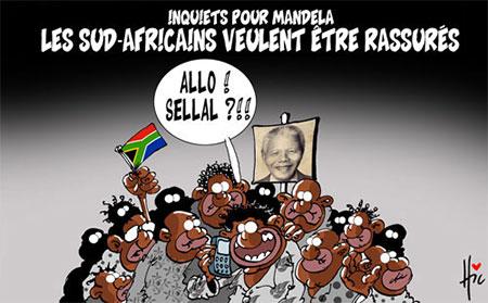 Inquiets pour Mandela: Les sud-africains veulent être rassurés - Dessins et Caricatures, Le Hic - El Watan - Gagdz.com