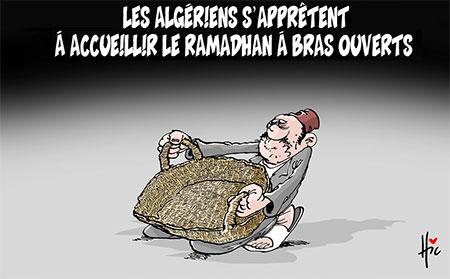 Les Algériens s'apprêtent à accueillir le ramadhan à bras ouverts - Dessins et Caricatures, Le Hic - El Watan - Gagdz.com