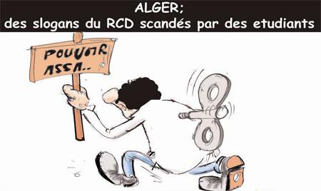 Alger: Des slogans du RCD scandés par des étudiants
