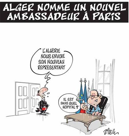 Alger nomme un nouvel ambassadeur à Paris - Dessins et Caricatures, Dilem - Liberté - Gagdz.com