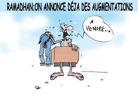 Ramadhan: On annonce déjà des augmentations - Dessins et Caricatures, Jony-Mar - La voix de l'Oranie - Gagdz.com