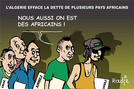 L'Algérie efface la dette de plusieurs pays africains - Dessins et Caricatures, Ghir Hak - Les Débats - Gagdz.com