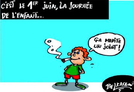 C'est le 1er juin, la journée de l'enfant - Belkacem - Le Courrier d'Algérie, Dessins et Caricatures - Gagdz.com