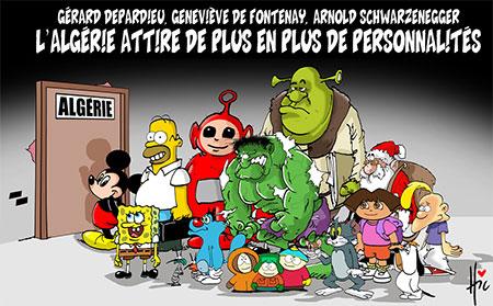 L'Algérie attire de plus en plus de personnalités - Dessins et Caricatures, Le Hic - El Watan - Gagdz.com