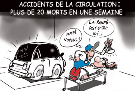 Accidents de la circulation: Plus de 20 morts en une semaine - Dessins et Caricatures, Jony-Mar - La voix de l'Oranie - Gagdz.com