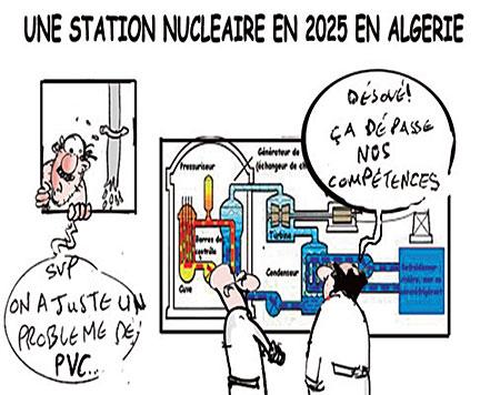 Une station nucléaire en 2025 en Algérie - Dessins et Caricatures, Jony-Mar - La voix de l'Oranie - Gagdz.com
