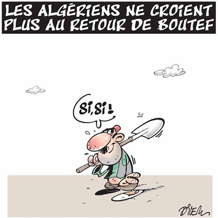 Les Algériens ne croient plus au retour de Boutef - Dessins et Caricatures, Dilem - Liberté - Gagdz.com