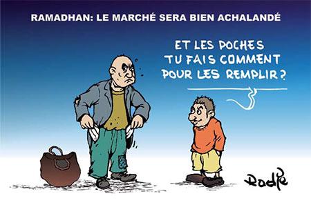 Ramadhan: Le marché sera bien achalandé - Dessins et Caricatures, Ghir Hak - Les Débats - Gagdz.com