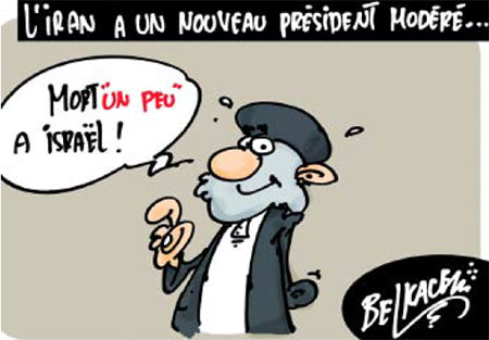 L'Iran a un nouveau président modéré - Belkacem - Le Courrier d'Algérie, Dessins et Caricatures - Gagdz.com