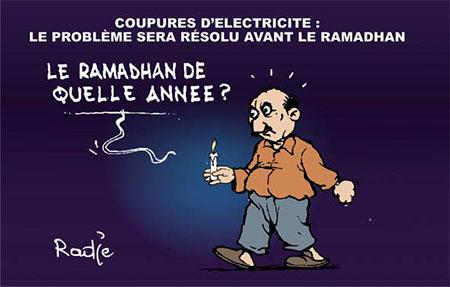 Coupures d'électricité: Le problème sera résolu avant le ramadhan - Dessins et Caricatures, Ghir Hak - Les Débats - Gagdz.com