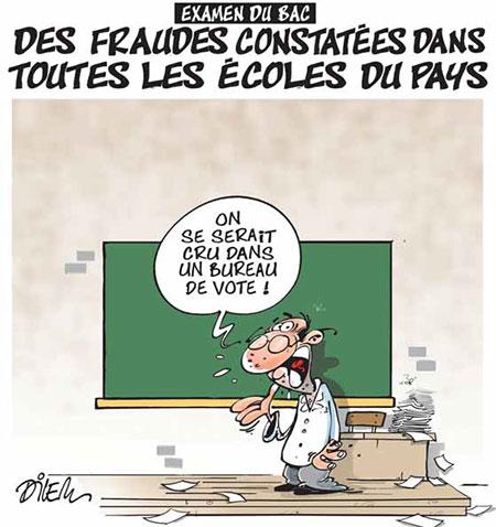 Examen du bac: Des fraudes constatées dans toutes les écoles du pays - Dessins et Caricatures, Dilem - Liberté - Gagdz.com