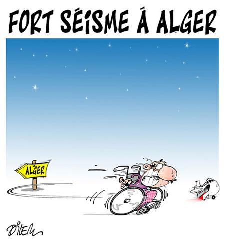 Fort séisme à Alger - Dessins et Caricatures, Dilem - Liberté - Gagdz.com
