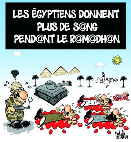 Les Egyptiens donnent plus de sang pendant le ramadhan - Dessins et Caricatures, Islem - Le Temps d'Algérie - Gagdz.com