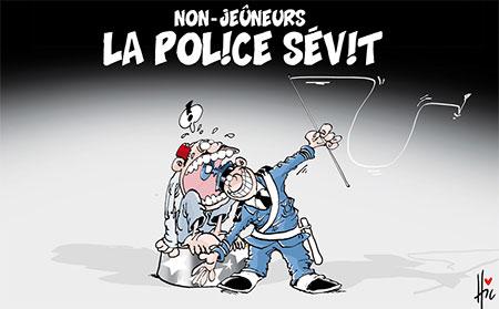 Non-jeûneurs: La police sévit - Dessins et Caricatures, Le Hic - El Watan - Gagdz.com