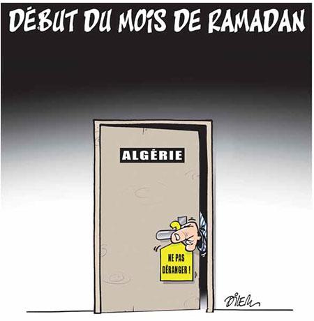 Début du mois de ramadan - Dessins et Caricatures, Dilem - Liberté - Gagdz.com