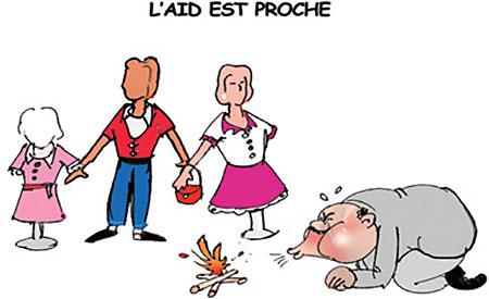 L'aid est proche - Dessins et Caricatures, Jony-Mar - La voix de l'Oranie - Gagdz.com