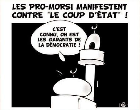 Les pro-Morsi manifestent contre le coup d'état
