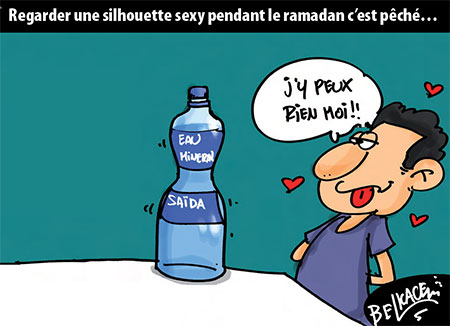 Regarder une silhouette sexy pendant le ramadan c'est pêché - Belkacem - Le Courrier d'Algérie, Dessins et Caricatures - Gagdz.com