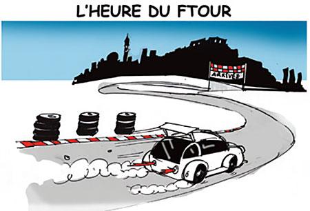 L'heure du ftour - Dessins et Caricatures, Jony-Mar - La voix de l'Oranie - Gagdz.com