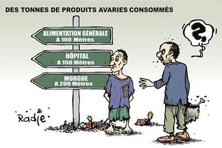 Des tonnes de produits avariés consommés - Dessins et Caricatures, Ghir Hak - Les Débats - Gagdz.com