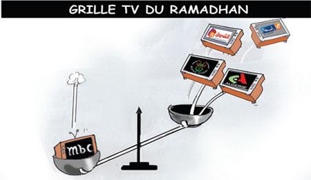 Grille TV du ramadhan - Dessins et Caricatures, Jony-Mar - La voix de l'Oranie - Gagdz.com