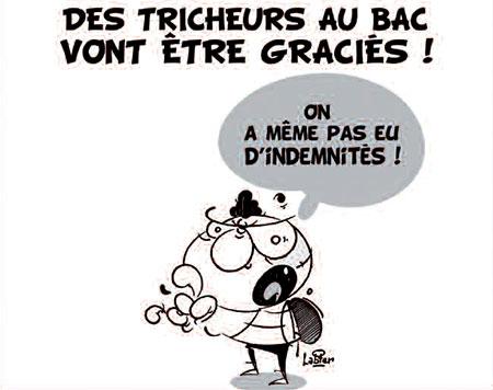 Des tricheurs au bac vont être graciés - Dessins et Caricatures, Vitamine - Le Soir d'Algérie - Gagdz.com