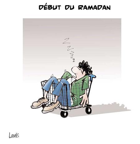 Début du ramadan - Dessins et Caricatures, Lounis Le jour d'Algérie - Gagdz.com