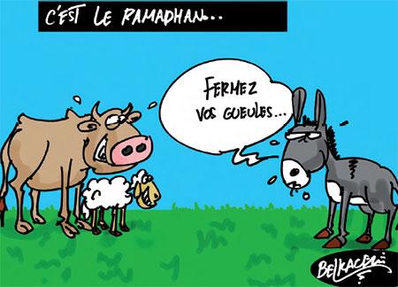 C'est le ramadhan - Belkacem - Le Courrier d'Algérie, Dessins et Caricatures - Gagdz.com