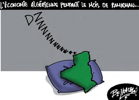 L'économie algérienne pendant le mois de ramadan - Belkacem - Le Courrier d'Algérie, Dessins et Caricatures - Gagdz.com