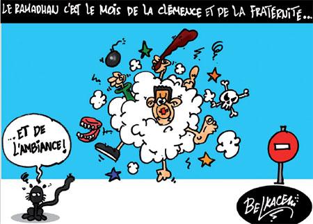 Le ramadhan c'est le mois de la clémence et de la fraternité - Belkacem - Le Courrier d'Algérie, Dessins et Caricatures - Gagdz.com