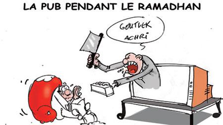 La pub pendant le ramadhan - Dessins et Caricatures, Jony-Mar - La voix de l'Oranie - Gagdz.com
