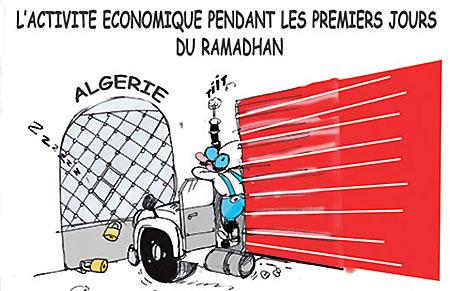 L'activité économique pendant les premiers jours du ramadhan - Dessins et Caricatures, Jony-Mar - La voix de l'Oranie - Gagdz.com