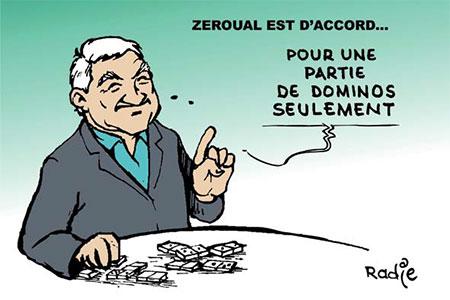 Zeroual est d'accord - Dessins et Caricatures, Ghir Hak - Les Débats - Gagdz.com