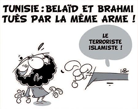 Tunisie: Belaid et Brahmi tués par la même arme - Dessins et Caricatures, Vitamine - Le Soir d'Algérie - Gagdz.com