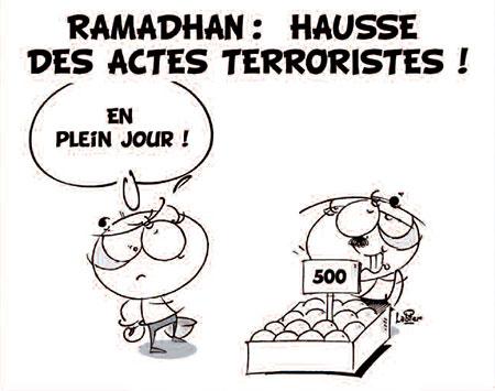Ramadhan: Hausse des actes terroristes - Dessins et Caricatures, Jony-Mar - La voix de l'Oranie - Gagdz.com