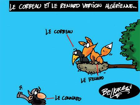 Le corbeau et le renard version algérienne - Belkacem - Le Courrier d'Algérie, Dessins et Caricatures - Gagdz.com