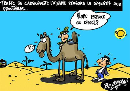 Trafic de carburant: L'Algérie renforce le dispositif aux frontières - Belkacem - Le Courrier d'Algérie, Dessins et Caricatures - Gagdz.com