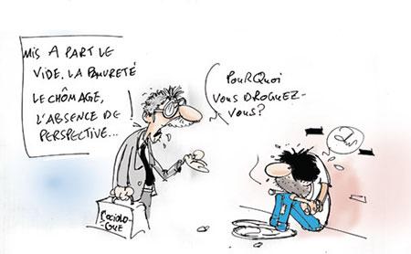 Drogue - Dessins et Caricatures, Jony-Mar - La voix de l'Oranie - Gagdz.com