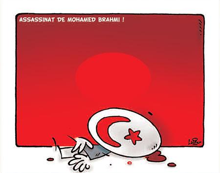 Assassinat de Mohamed Brahmi - Dessins et Caricatures, Vitamine - Le Soir d'Algérie - Gagdz.com
