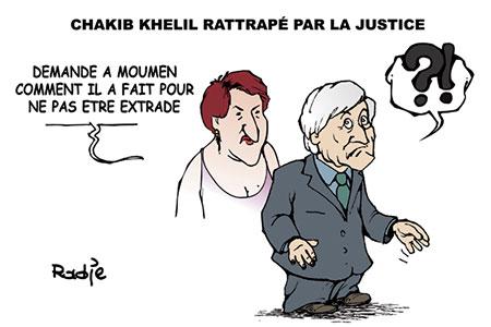 Chakib Khelil rattrapé par la justice - Dessins et Caricatures, Ghir Hak - Les Débats - Gagdz.com