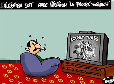 L'algérien suit avec attention le procès Sonatrach - Belkacem - Le Courrier d'Algérie, Dessins et Caricatures - Gagdz.com