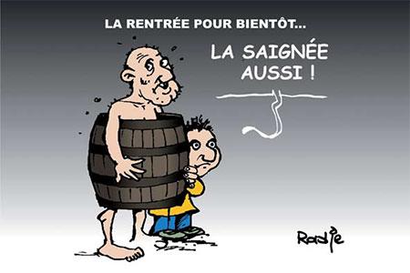 La rentrée pour bientôt - Dessins et Caricatures, Ghir Hak - Les Débats - Gagdz.com