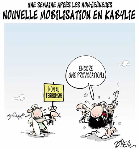 Nouvelle mobilisation en Kabylie - Dessins et Caricatures, Dilem - Liberté - Gagdz.com