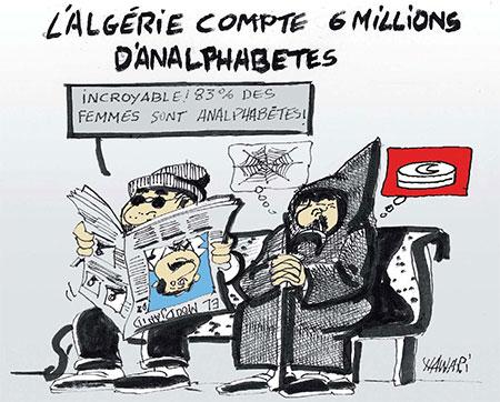 L'Algérie compte 6 millions d'analphabètes - Dessins et Caricatures, Hawari - La Tribune des Lecteurs - Gagdz.com
