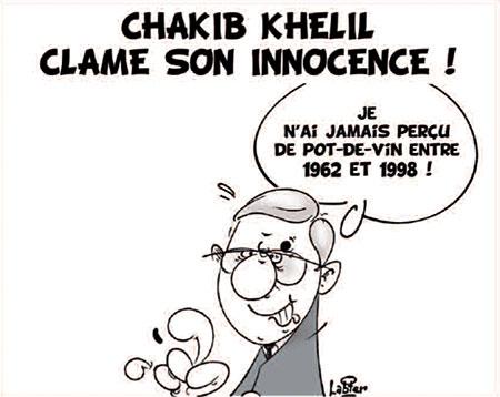 Chakib Khelil clame son innocence - Dessins et Caricatures, Vitamine - Le Soir d'Algérie - Gagdz.com